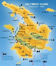 KALYMNOS COURSES MAP